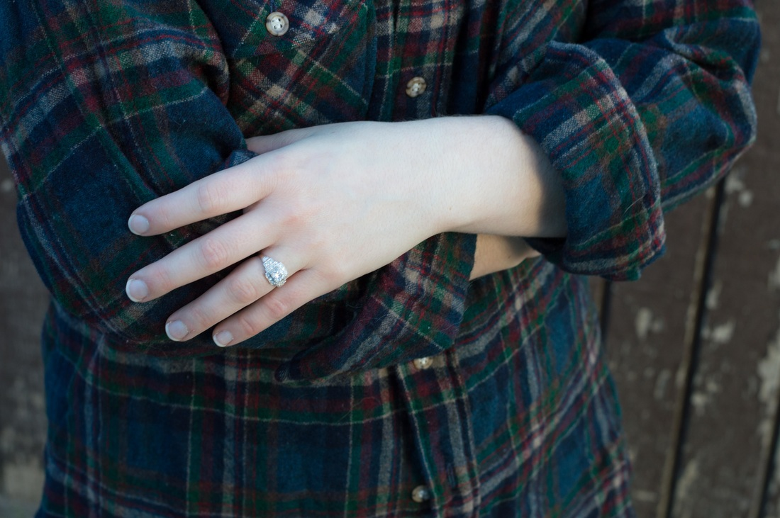 This week's theme for Slow Fashion October is Loved. These are my two oldest pieces, a Pendleton shirt from my Dad, and my antique wedding ring.